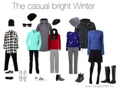 """I present a selection of (hopefully) more grown-up styles befitting a mature Bright Winter with a preferance for casual style outfits"""