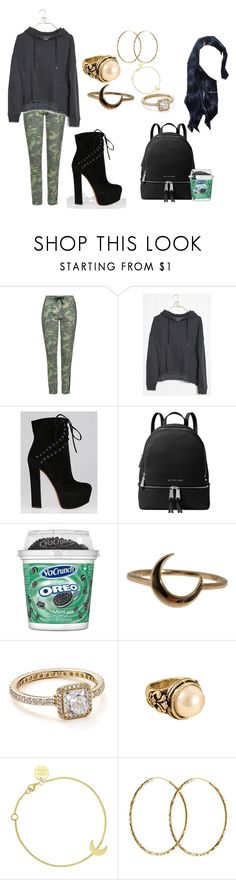"""""""You say that you don't wanna talk but it's cool"""" by moonlightbabby ❤ liked on Polyvore featuring Topshop, Alaïa, MICHAEL Michael Kors, Lulu Frost, Pandora, SOPHIE by SOPHIE and Pernille Corydon"""