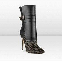 76c2909f62295 Jimmy Choo Blaine Smoke Leopard Print and Black Nappa Ankle Boots