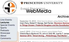 Streaming lectures from Princeton.