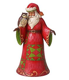Jim Shore Collection Santa with Owl Figurine #Dillards