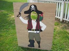 spelidee voor piratenfeestje: bal werpen