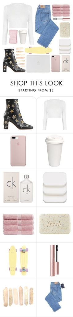 """""""♡;; i destroy them"""" by starshipsx4 ❤ liked on Polyvore featuring Valentino, Calvin Klein, COVERGIRL, Christy, Fresh and Too Faced Cosmetics"""