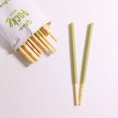 JapanCandyBox.com ❤ Japanese Candy Subscription Box omg is this matcha or plain green tea flavored pocky??? I WANT