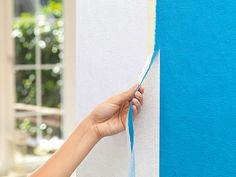 tesa Masking Tape Perfect for Sharp Edges, 50 M x 19 MM, Painting Edges, Diy Painting, Diy Academy, Life Hacks, Bedroom Flooring, Wall Treatments, Masking Tape, Wall Colors, Sewing Hacks