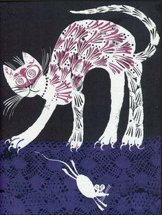 "Illustration by Carlos Marchiori, ""Sally Go Round the Sun""."