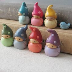 fimo..... something about these little guys and bird that I am just finding magical and beautiful