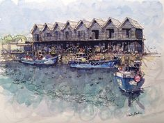 Fishing Huts in Whitstable Harbour