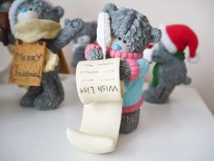 Christmas Me to You Bear Figurine Collection | Katie Kirk Loves #decorations #ornaments #lwishlist