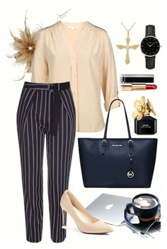 """""""Office Suit #1"""" by nelvilia-senawijaya ❤ liked on Polyvore featuring Diane Von Furstenberg, Topshop, Dyson, NOVICA, ROSEFIELD, Marc Jacobs, Cole Haan, Chanel, pastel and beige"""