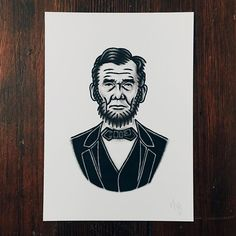 """Abraham Lincoln - Original 5x7"""" pen and ink on paper up for grabs in my online store along with several other original works. Free shipping on all orders within the United States!  Link in my bio. #yondrflash"""