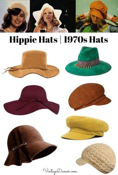 Hippie hats hats hats boho hats disco hats for women at VintageDancer . Hippie hats hats hats boho hats disco hats for women at VintageDancer hats Hippie H Hippie Outfits, Hippie Style Clothing, 70s Outfits, Outfits With Hats, Hiking Outfits, Gypsy Clothing, Sport Outfits, 70s Inspired Fashion, 70s Fashion