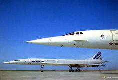 Air France Concorde, 1970's – www.facebook.com/VintageAirliners ~✈ Commercial Plane, Commercial Aircraft, Air France, Concorde, Supersonic Aircraft, Tupolev Tu 144, Passenger Aircraft, Civil Aviation, British Airways