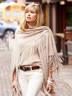 matia fringe wrap - sweaters - women - Gorsuch
