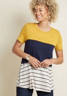 Carefree Crafter Knit Top, #ModCloth