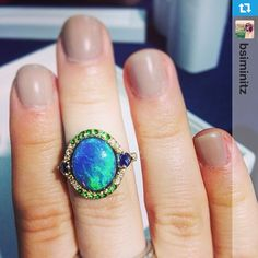 #Repost from @bsiminitz  --- There's that opal! So beautiful from @omiprive #jcklasvegas #jck2014