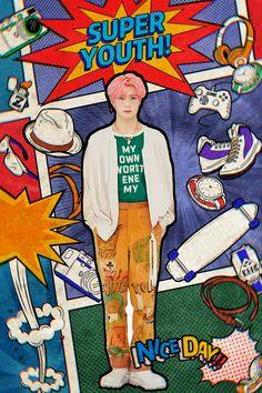 Kpop Posters, Cartoon Jokes, Jung Jaehyun, Jaehyun Nct, Postcard Design, Retro Aesthetic, K Idols, Nct Dream, Nct 127