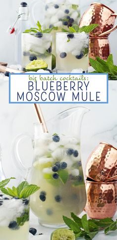 Big Batch Cocktails: Blueberry Moscow Mules
