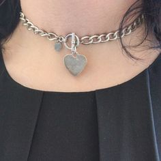 Claire's Chain Necklace with Heart Pendant Heart charm chain necklace from Claire's. Silver wearing off in some areas/discoloration. Good condition. Similar style bracelet listed. No Paypal or Trades. 👠Blog: willbakeforshoes.com 🐥Twitter: @willbakeforshoe 📷Instagram: @willbakeforshoes Claire's Jewelry Necklaces