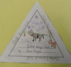 Use the outline to create a triangle poem about the Iditarod. Writing Activities, Classroom Activities, Reading Mastery, Simple Poems, Help Teaching, Teaching Ideas, Stone Fox, Book Study