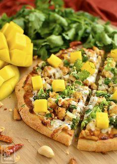 Thai Chicken Flatbread Pizza recipe