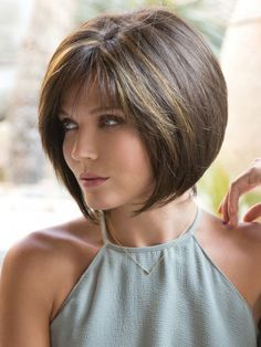 For women blessed with thick, beautiful hair, any hairstyle goes. They can easily rock luscious lengthy locks past their shoulders but can easily sport a short haircut with no problem. These layered bob hairstyles for thick hair are cute and bouncy, perfect for amplifying your mane without it looking too bulky.