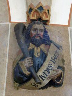 Balingen-Stadtkirche-Gewölbeansätze-Apostel-Judas Thadäus154542 - Jude (apôtre) — Wikipédia