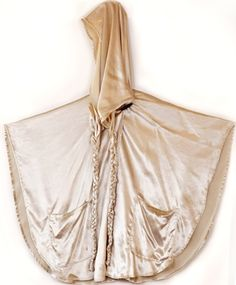 "Lindsey Thornburg  Champagne Summer Cloak  $750.00 __ Velvet: 18% silk, 82% rayon. 30"" length."