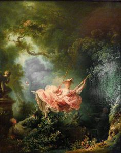 Jean-Honoré Fragonard, The Swing, 1767, oil on canvas, 81 x 64.2 cm (Wallace Collection, London) All about the light and airy, suggestive and whimsical feelings here