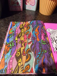 Book - The Neon Colouring Book. Media - Fineliners and gel pens.