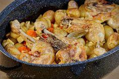 Poulet au four et légumes d'hiver Ratatouille, Shrimp, Chicken, Food, Recipes, The World, Baked Chicken, Chicken Legs, Poultry