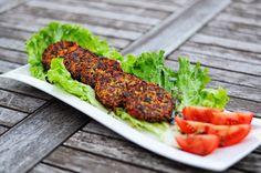 von veganen Küchengelüsten und anderen Dingen...: Rote Qunioa-Hirse-Laibchen Tandoori Chicken, Salmon Burgers, Lunch, Dinner, Ethnic Recipes, Whole Food Diet, Red, Food Food, Dining