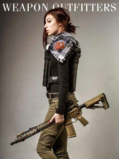 Super Milk Cosplay with a Weapon Outfitters Shemagh, made for us by Combat Flip Flops http://www.weaponoutfitters.com/weapon-outfitters-gear-combo.html SLR Rifleworks LITE Rail, Cerakoted...