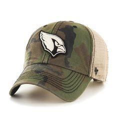 f545ec7198bdd Arizona Cardinals 47 Brand Green Howitzer Camo Burnett Mesh Adjustable Hat  Cap