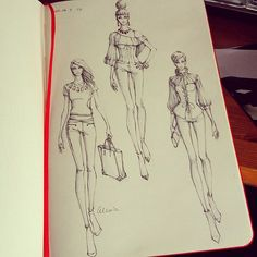 Sketches from Alex!   on Fashionary A5 womens sketchbook