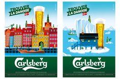 La campagne Trouver la Danoise de l'agence Australie pour la #bière Carlsberg #publicite