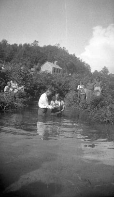 """Image Collections of Eastern KY. A """"baptizin'"""""""