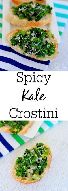 Spicy Kale Crostini