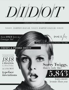 didot   fashion Thinking about layouts and black border lines to sequence text