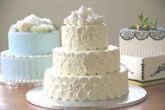 Lots of White Roses wedding Cake Design Costco Wedding Cakes, Walmart Wedding Cake, Costco Cake, Small Wedding Cakes, Beautiful Wedding Cakes, White Roses Wedding, Wedding Cake Roses, Wedding Cake Flavors, Cream Wedding