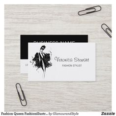 Fashion Queen Fashionillustration Business Card Personalized Buttons, Business Fashion, Fashion Stylist, Creative Business, Veronica, Business Cards, Typography, Things To Come, Queen