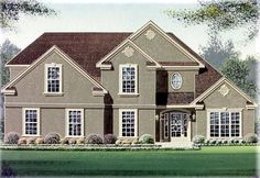 Traditional House Plan 60247 Elevation