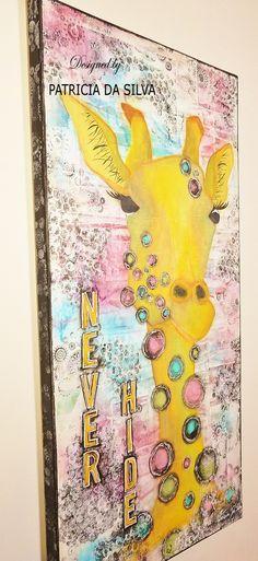 Mixed Media Art Canvas - Never Hide
