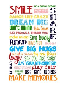Playroom Rules Primary Colors on White - designed to coordinate with IKEA children's accessories and rugs 16x20 by sweetleighmama, $35.00