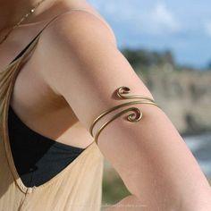 Snake Shaped Upper Arm Cuffs, Upper Arm Bands, Boho Upper Arm Cuffs