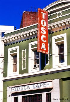Tosca Cafe In North Beach, San Francisco