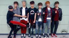 OHMYGOODNESS I've never seen the whole picture XD BTS♡ adorable Jimin, Jin, Rap Monster JungKook, Suga (looking shorter than Jimin XD), V, J-Hope♡ all looking fresh faced and recently debuted ^___^♡