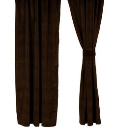 bon bon Dark Chocolate Velvet Suede Drapery Panel 54 x 84 western window curtains hudson II bedding wooded river authorized…