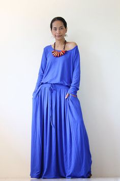 Royal Blue Maxi Dress by Nuichan