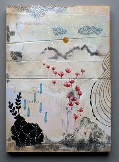 cathy mcmurray - mixed media + birch panel - the way home